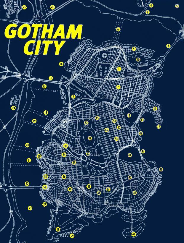 Gotham City Map Gotham City